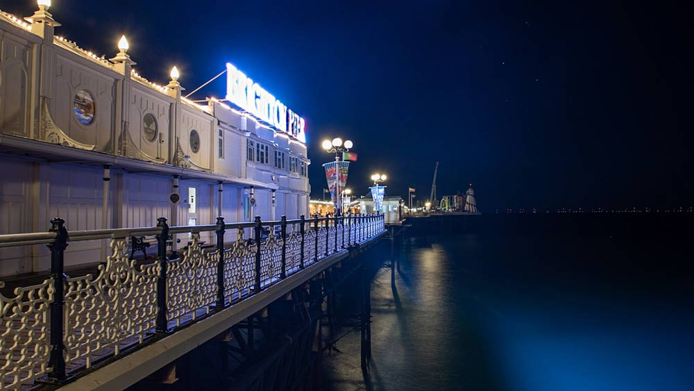 Palace Pier at night Brighton