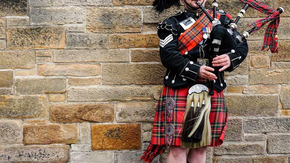 Dudziarz w Edynburgu, Szkocja