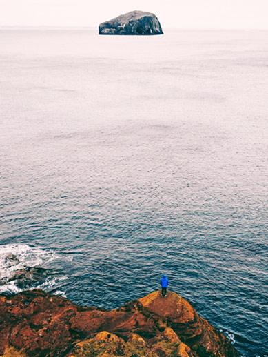 Bass Rock in Lothian Scotland