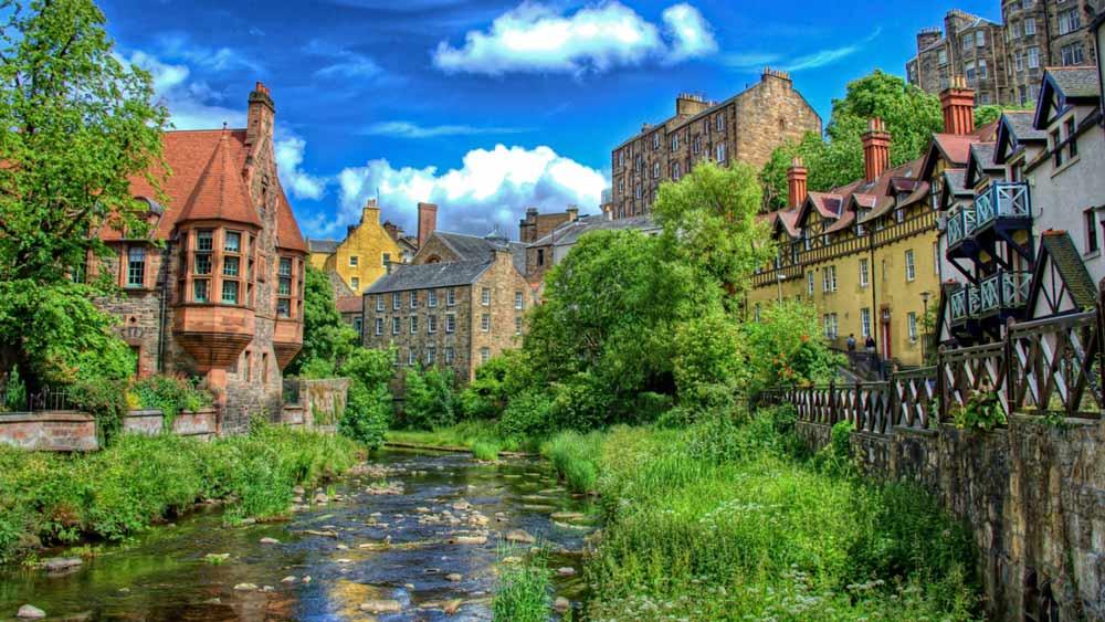 Dean Village w Edynburgu, Szkocja