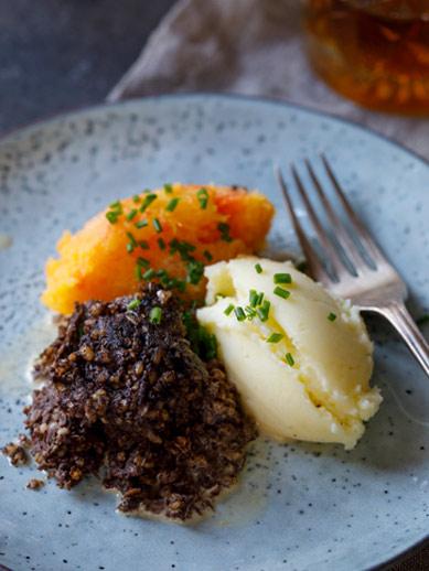 Haggis and Mash from Edinburgh Scotland