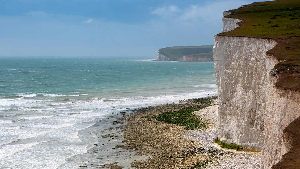 White Cliffs of Dover in Kent