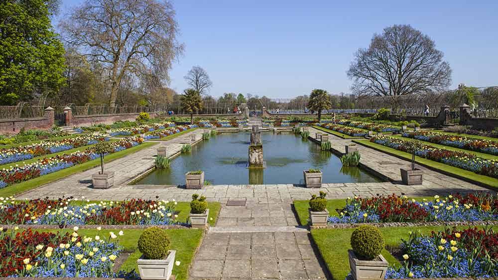 Sunken garden at Kensington Palace
