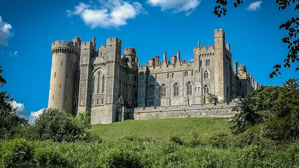 Le château d'Arundel en Angleterre