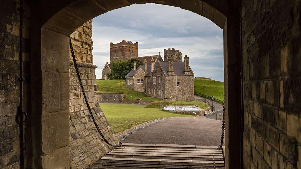 Intérieur du château de Douvres dans le Kent