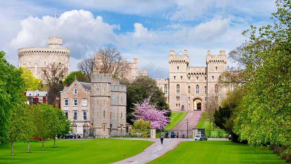 Le château de Windsor en Angleterre