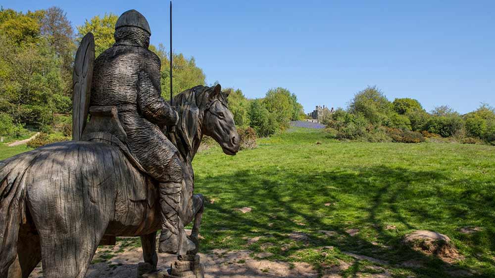 Wooden sculpture in Battle Abbey