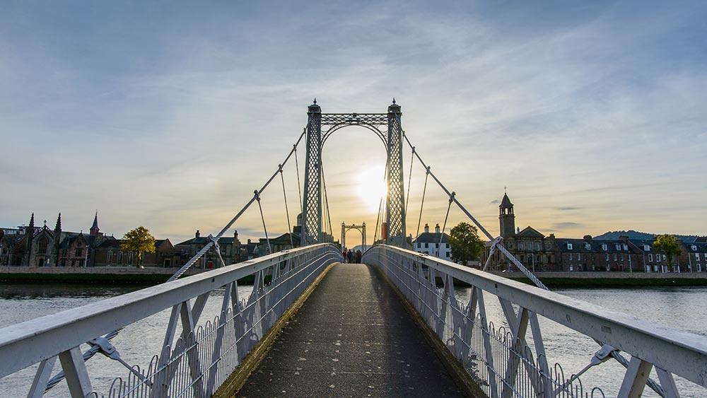 Pont à Inverness en Écosse