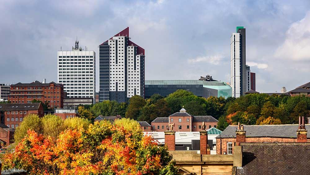 Sky line of Leeds City Centre