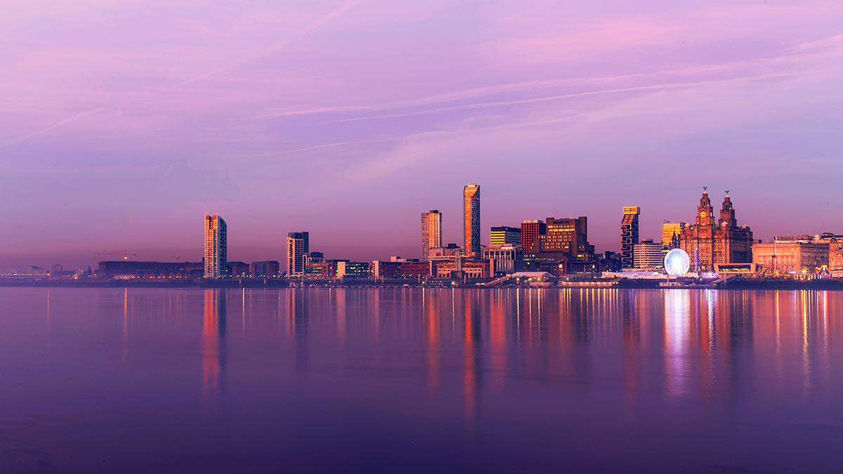 Liverpool Port at Sunset