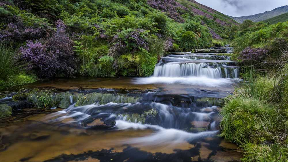 Waterval in het Peak District