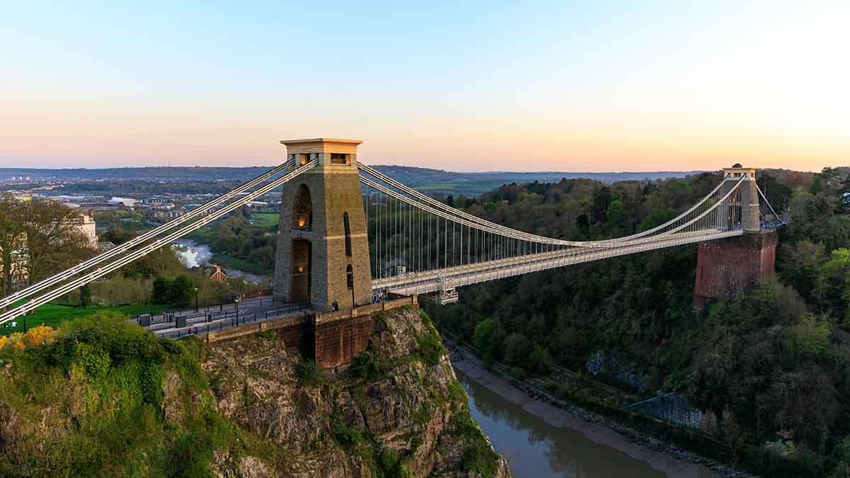 Clifton suspension bridge in Bristol UK