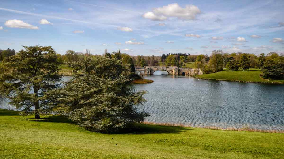 Blenheim Palace Grounds in Oxfordshire