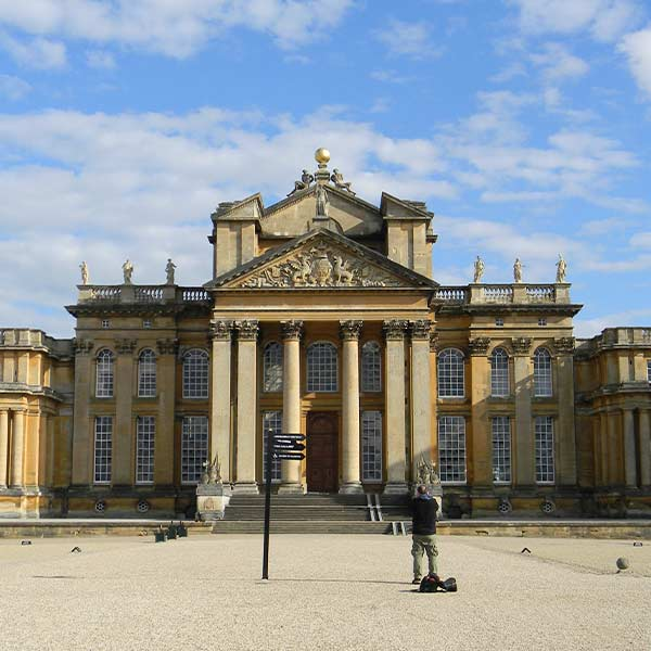 Blenheim Palace in Oxfordshire England