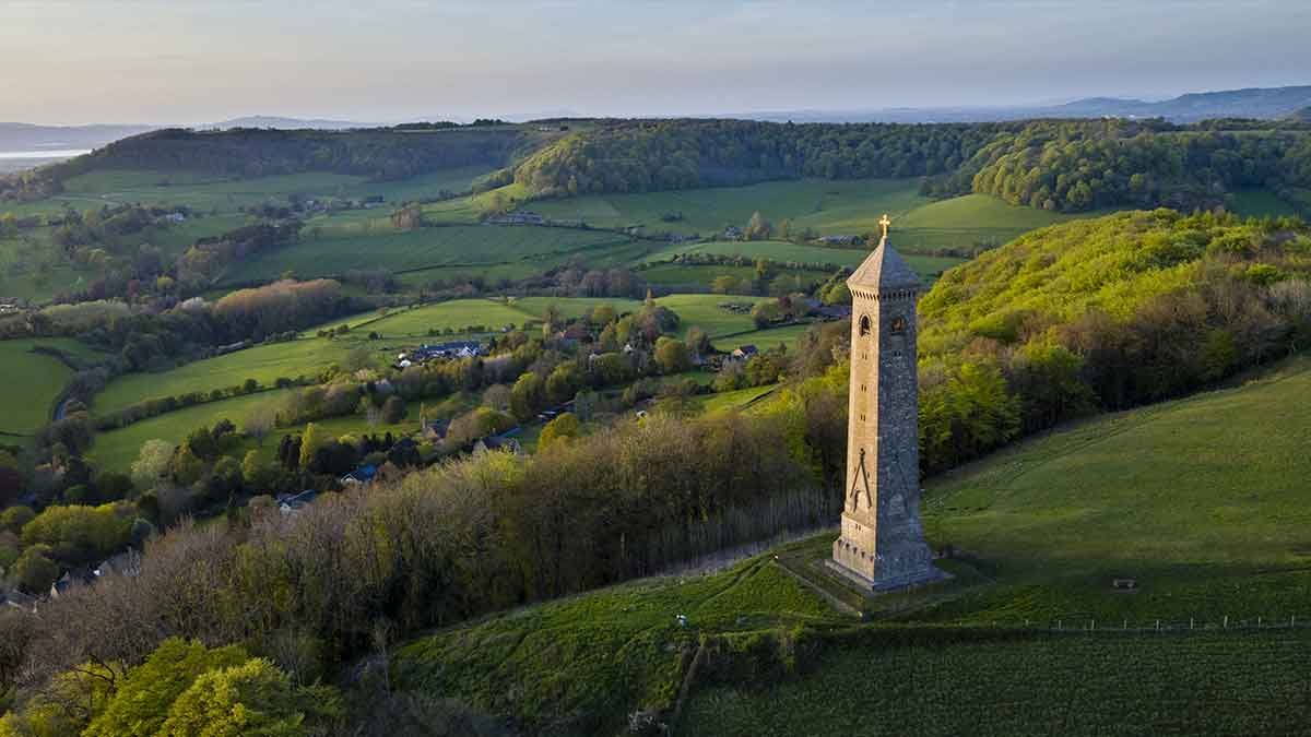 Tyndale Monument in Cotswold England