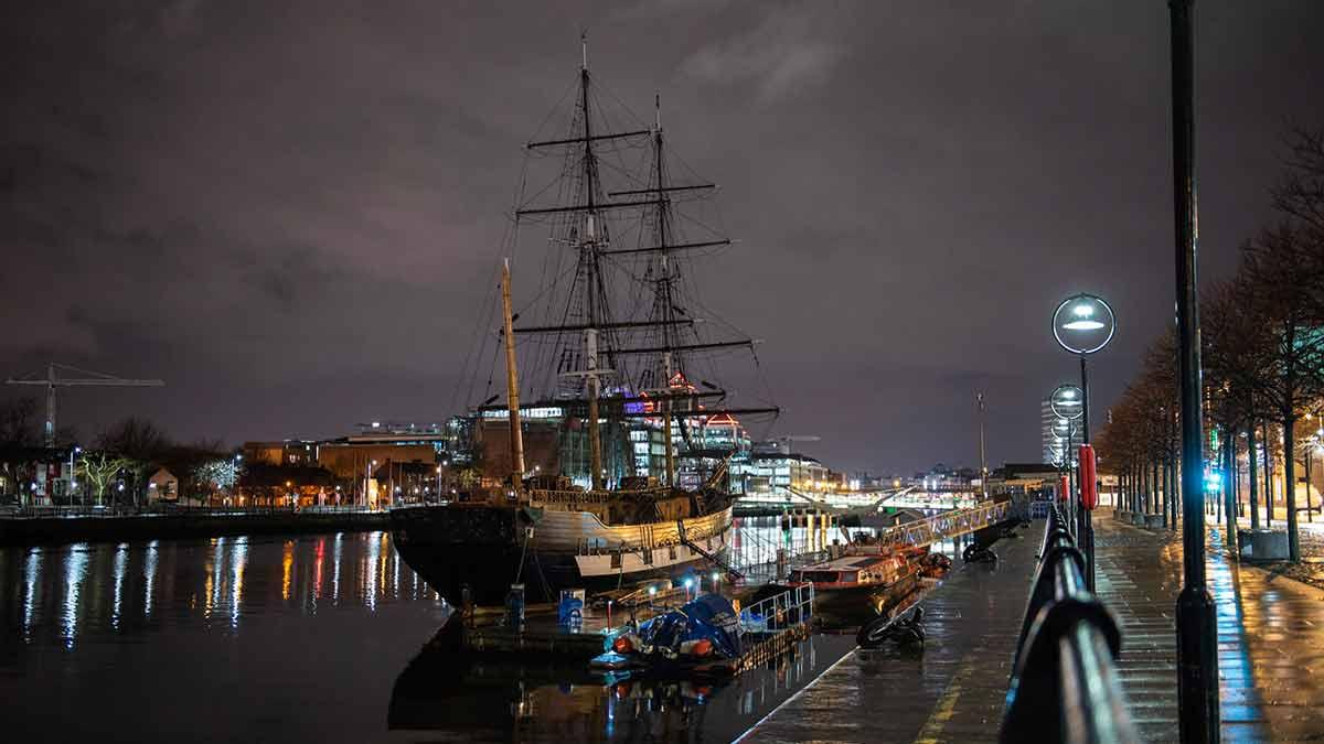 Dublin Dock in Ireland