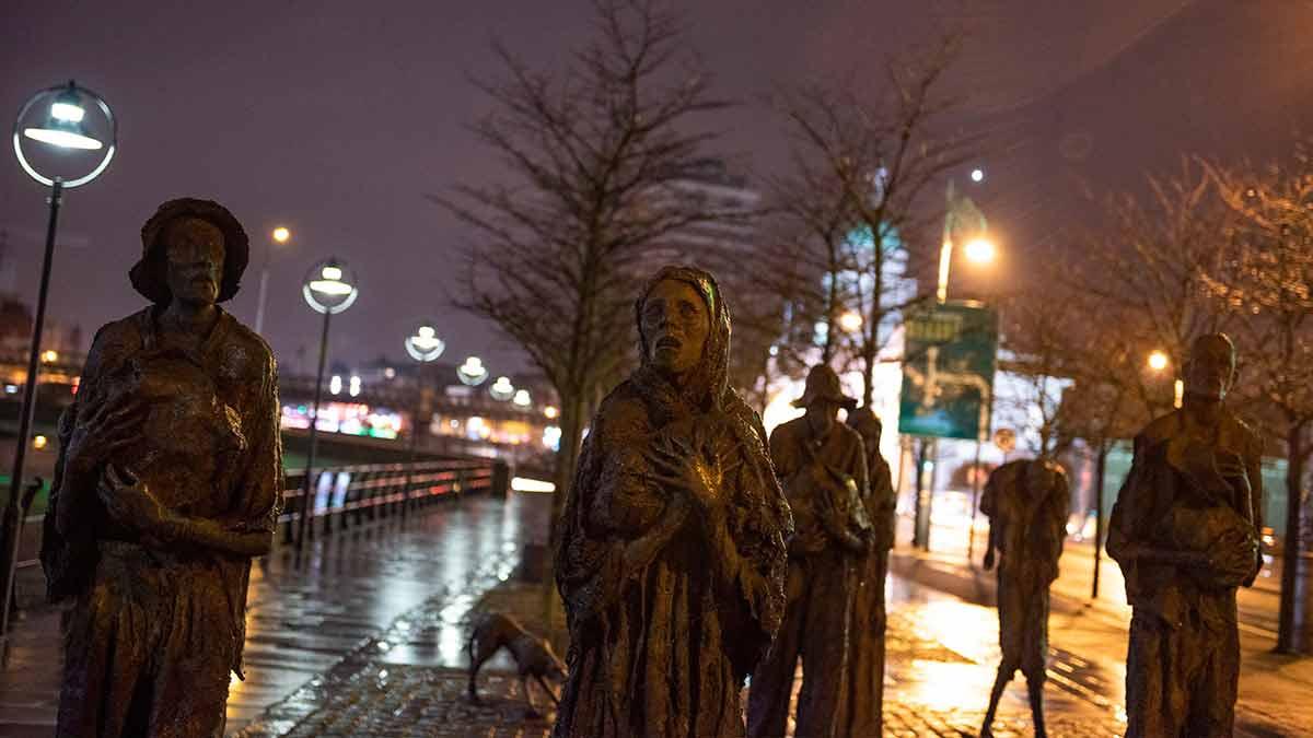 Hongersnoodmonument in Dublin