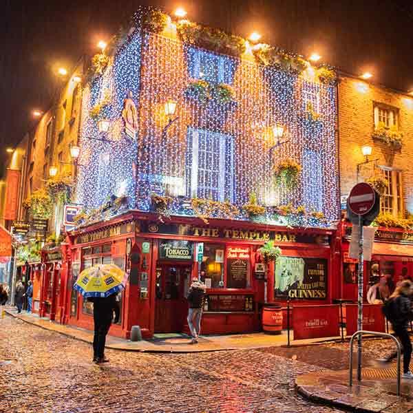 Temple-bar in Dublin, Ireland