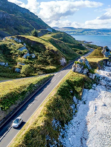 Giant Causeway Coastal Drive in Northern Ireland