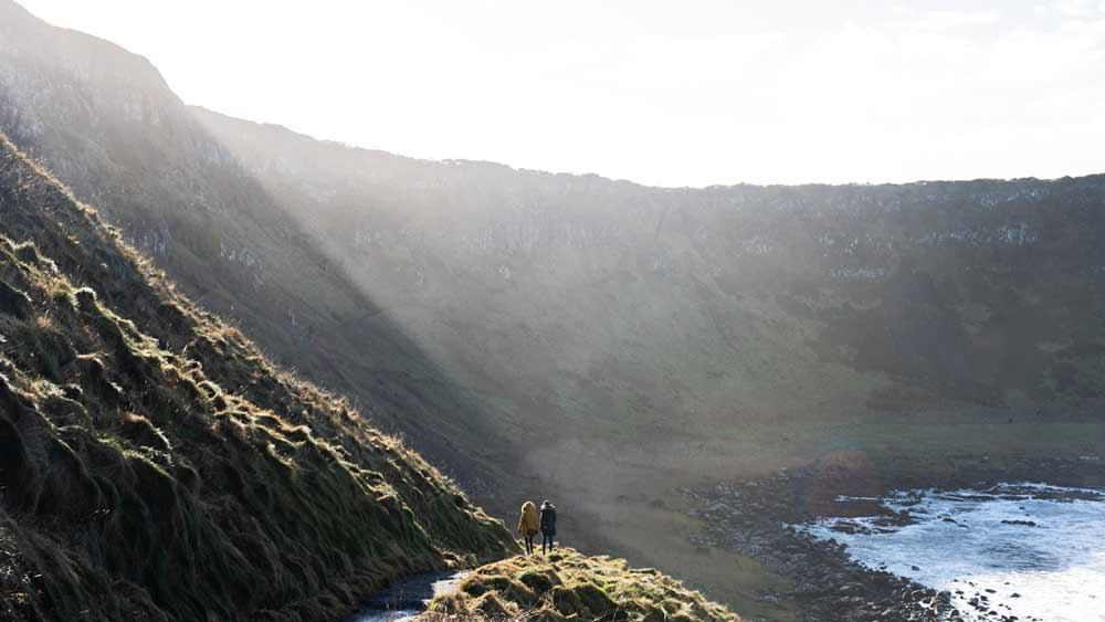 Paysage de la chaussée des géants en Irlande du Nord