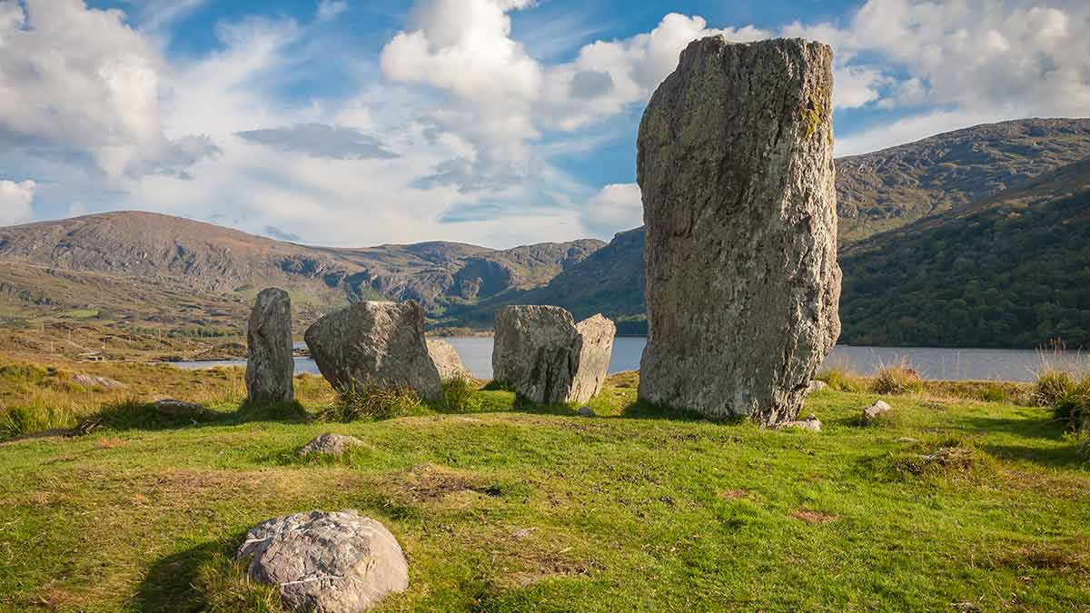Mystical celtic standing stones