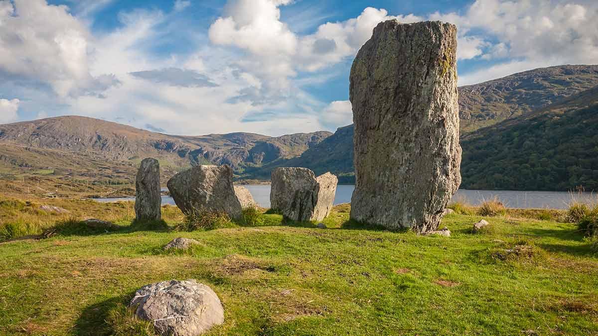 Mystieke Keltische staande stenen