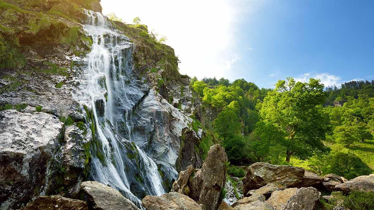 Powerscourt waterval in Ierland