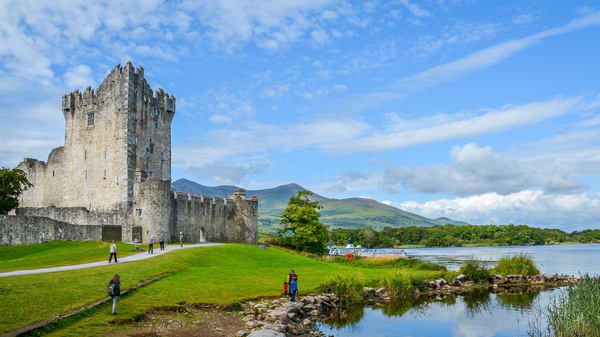 Ross Castle in Ierland