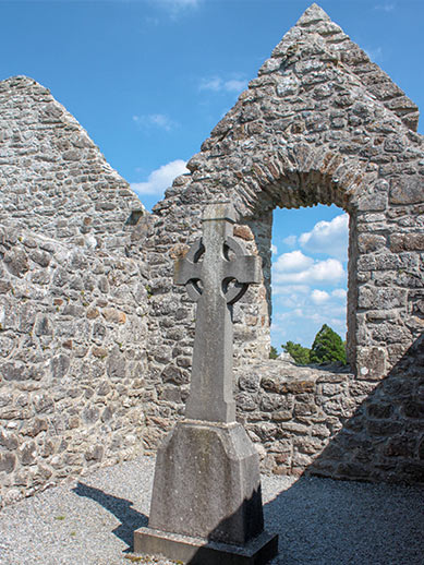 Ruins of an old church in Ireland