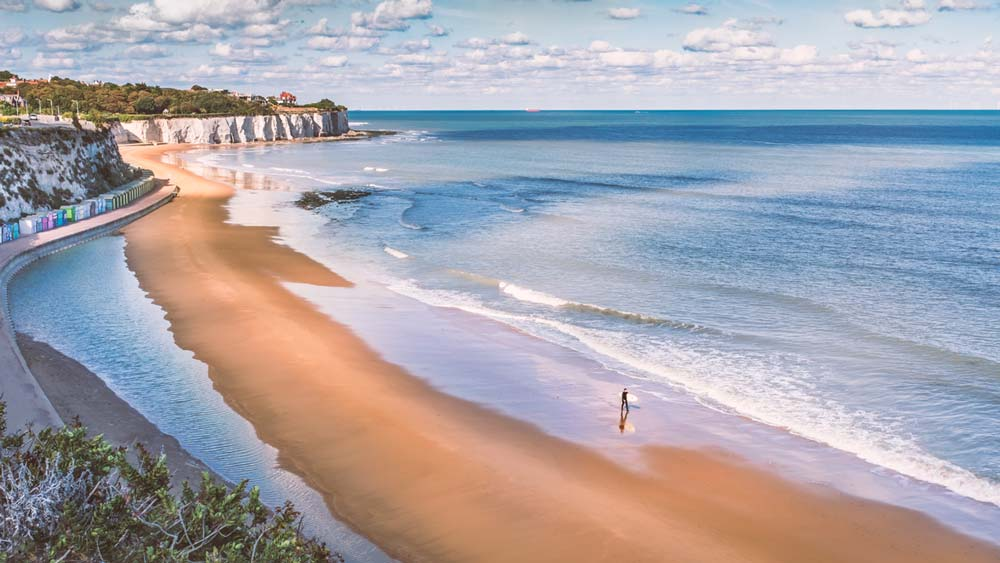 Botany Bay in Broadstairs, Kent, England