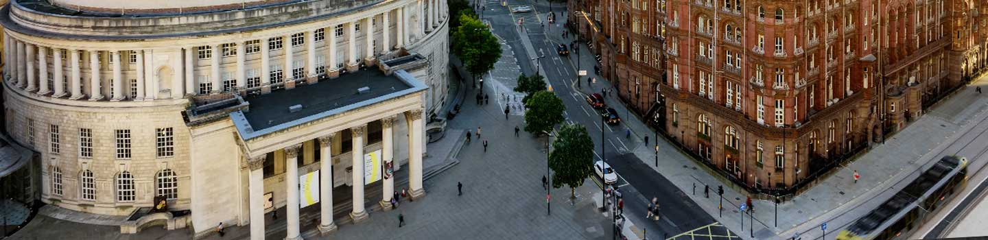 Saint Peters Square in Manchester, England