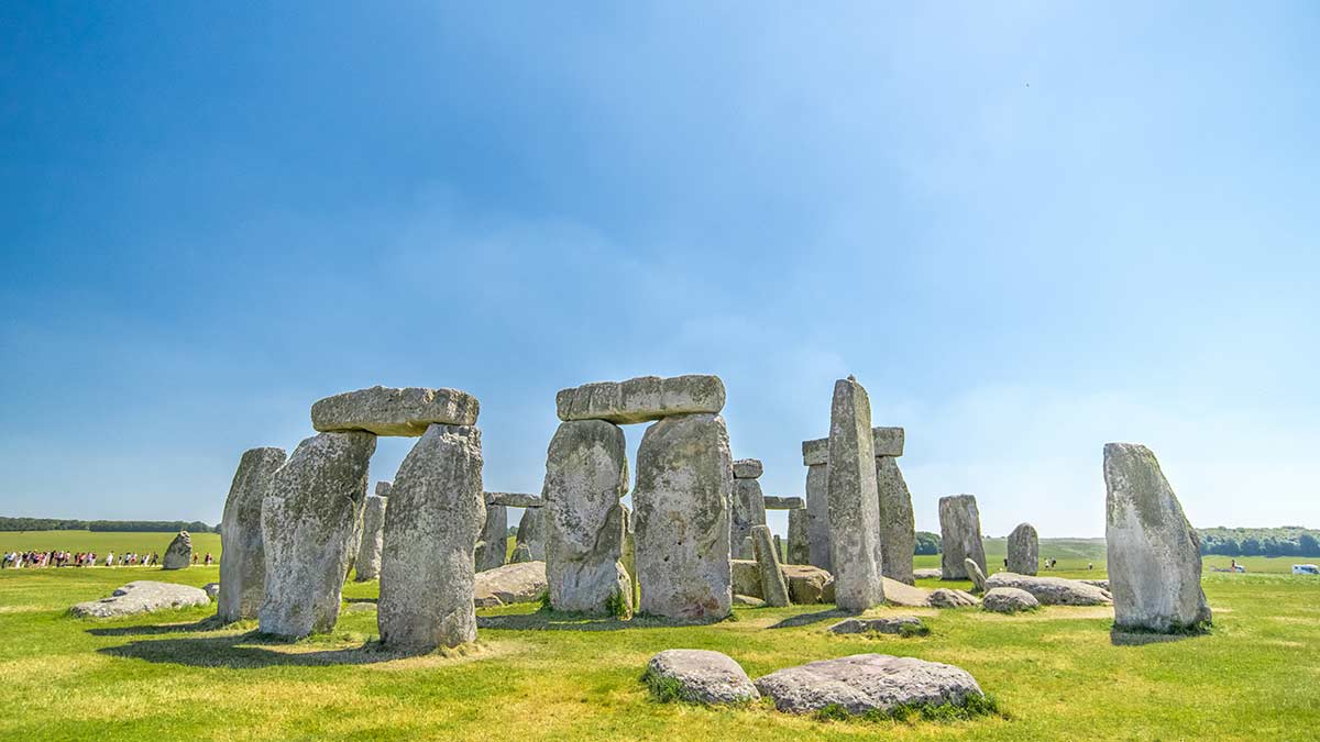 Ancient rocks at Stonehenge in Wiltshire