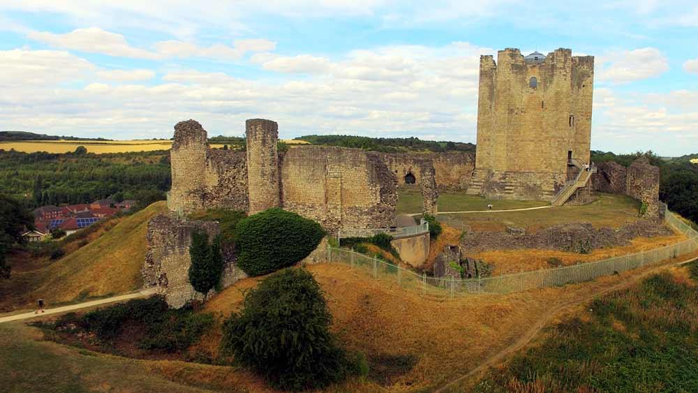 Zamek Conisbrough w Doncaster, Anglia