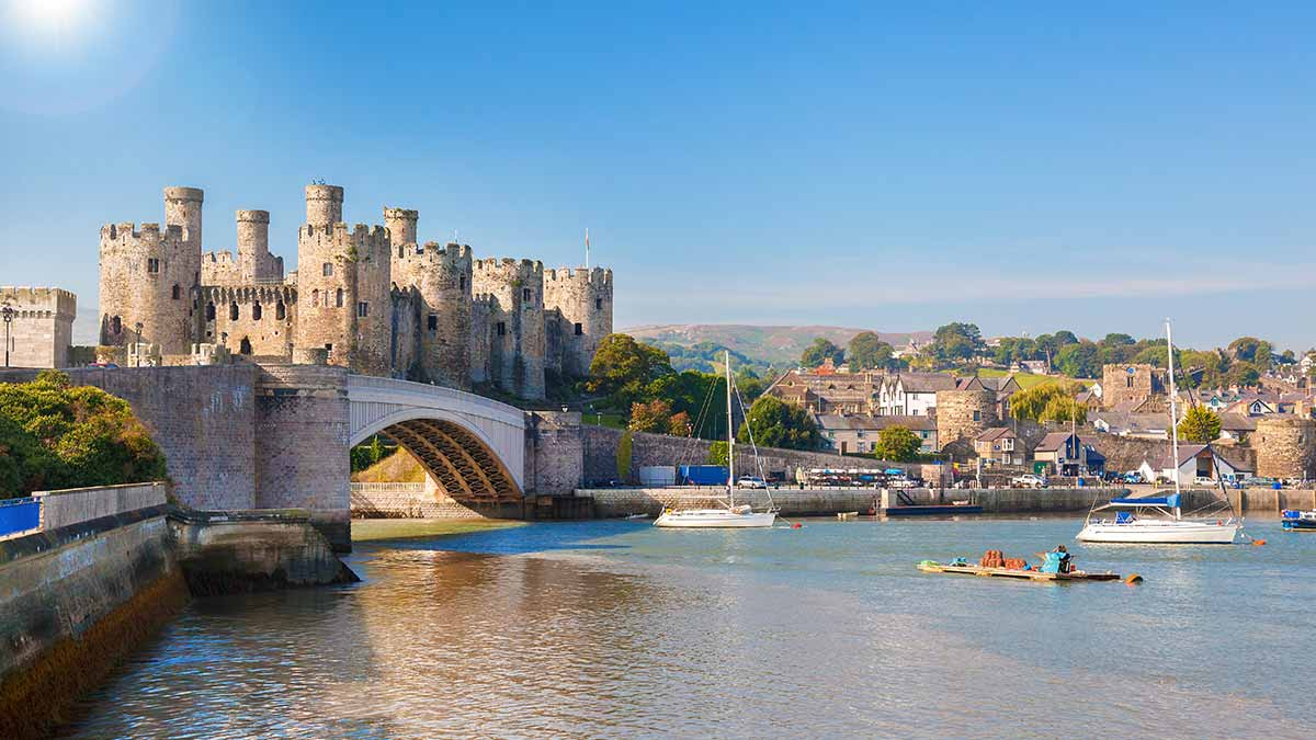 Conway Castle in Wales, Great Britain
