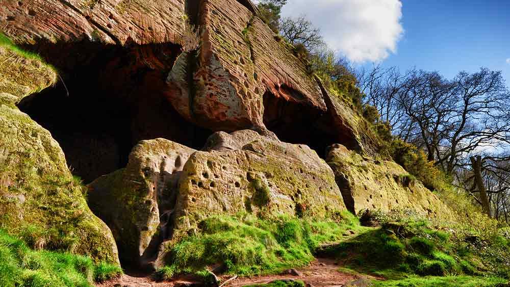 Ancient cave dwellings in Stourbridge