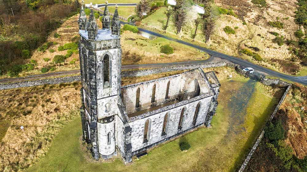 Church ruins in County Donegal