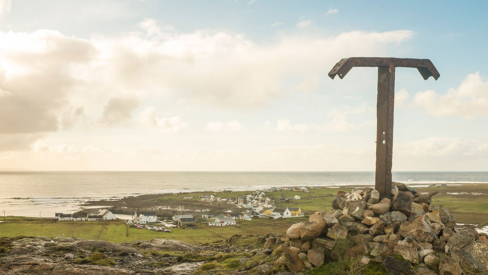 Tory Island village in County Donegal