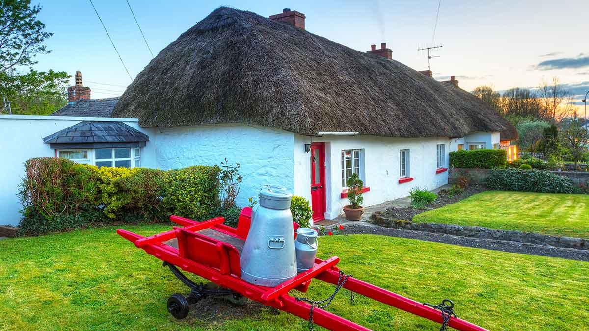 Traditionele huisjes in Ierland