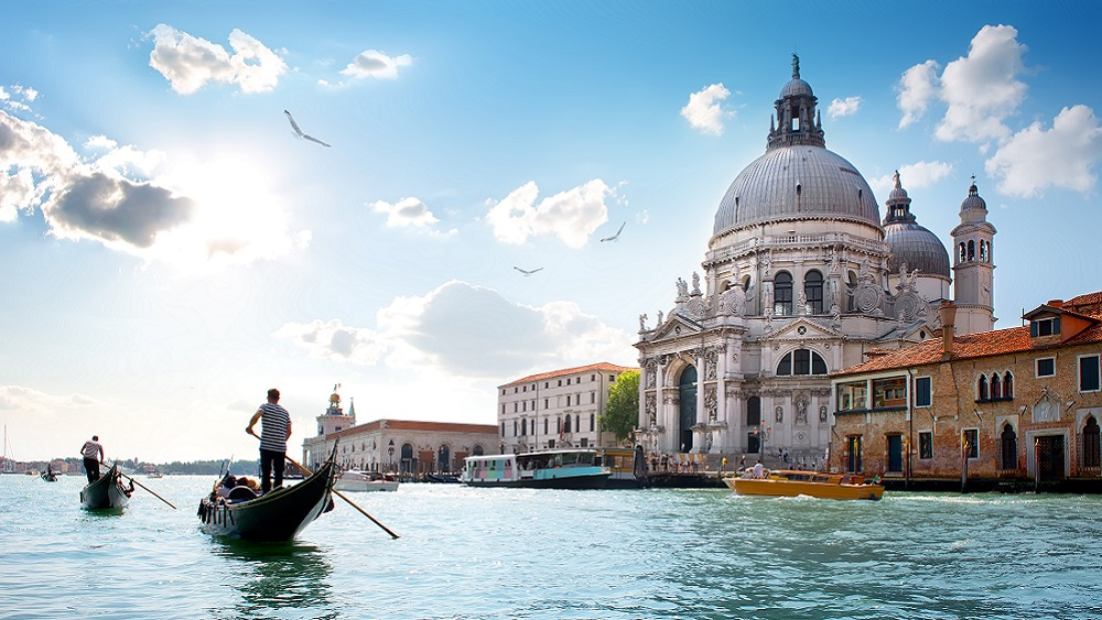 Cathedral and gondola rides in Venice, Italy