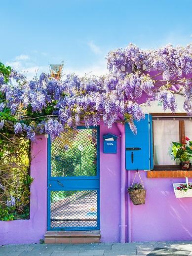 Coloured house on Burano Island - Venice
