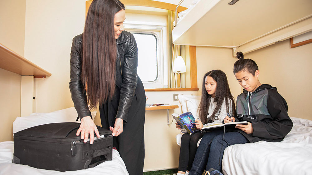 4 berth cabin on our Hull to Rotterdam route
