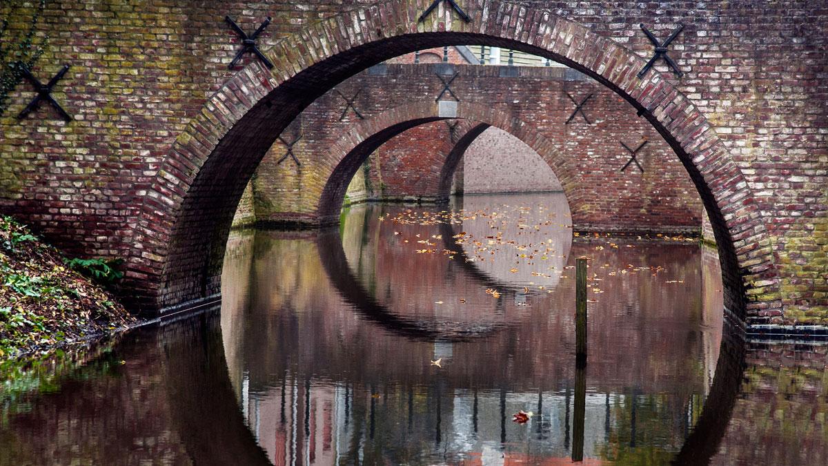 Three bridges in den-bosch canal