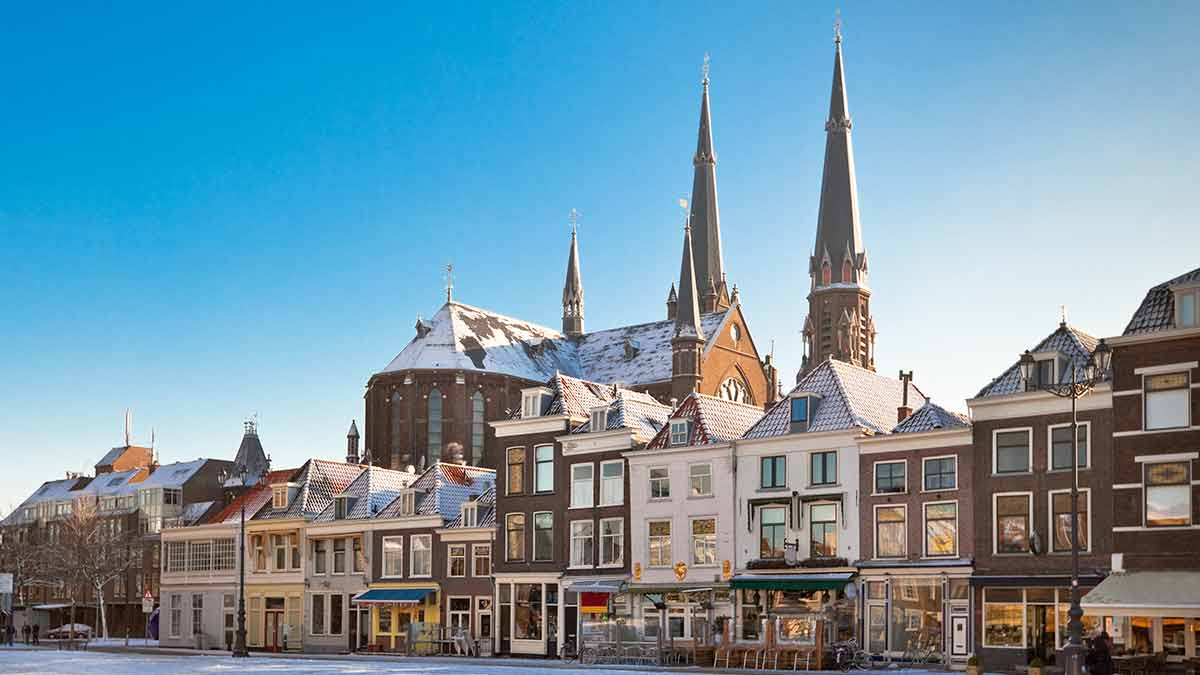Market Square in Delft, Netherlands