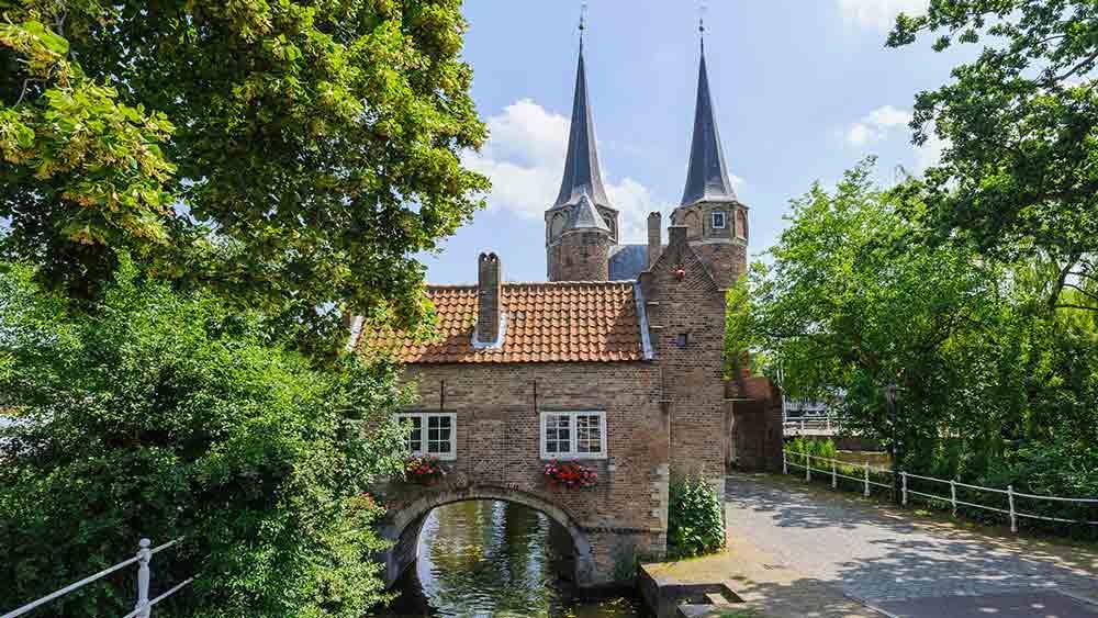 Eastern Gate in Delft, Netherlands