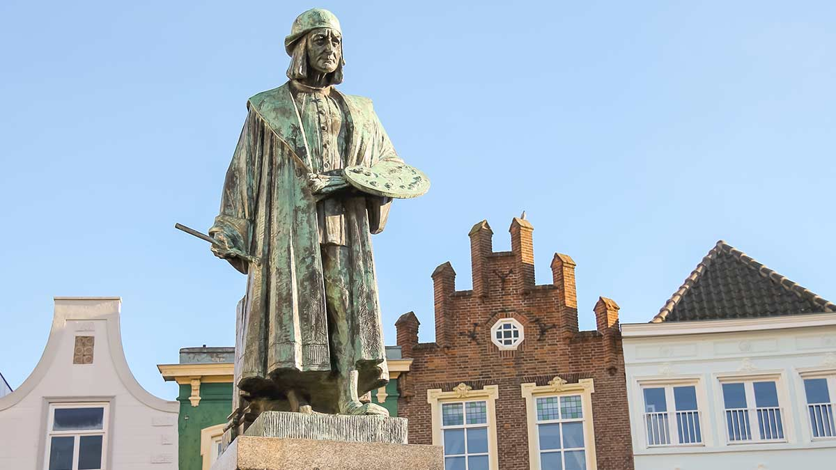 Monument of famous painter in Den Bosch