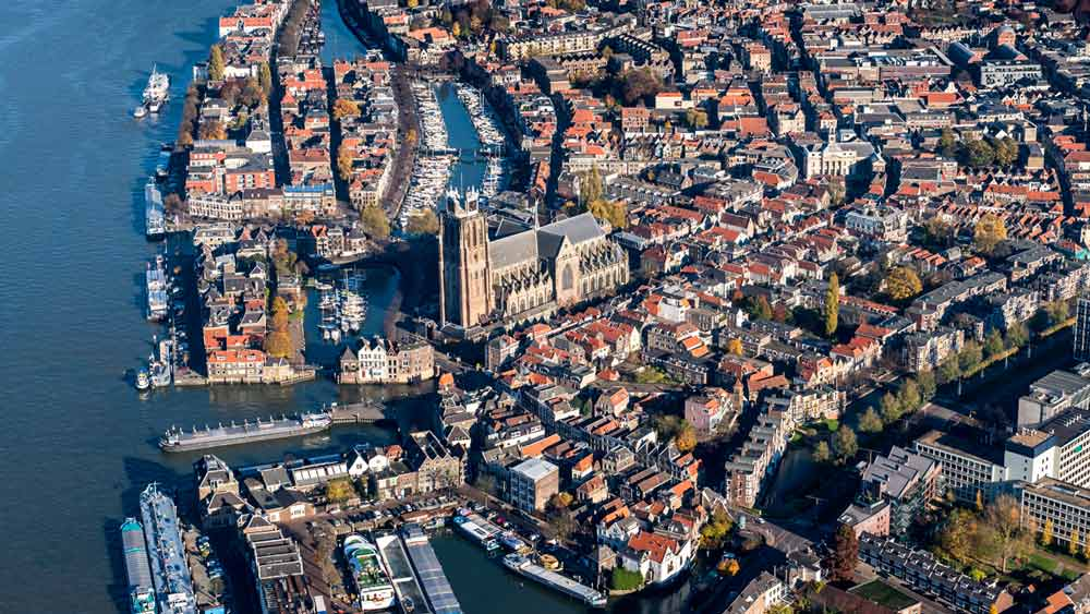 Dordrecht is known as the city by the water in the Netherlands