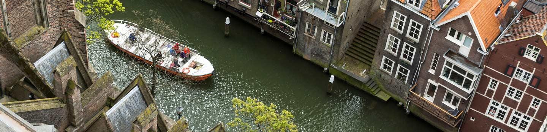Tour boat in Dordrecht, Netherlands
