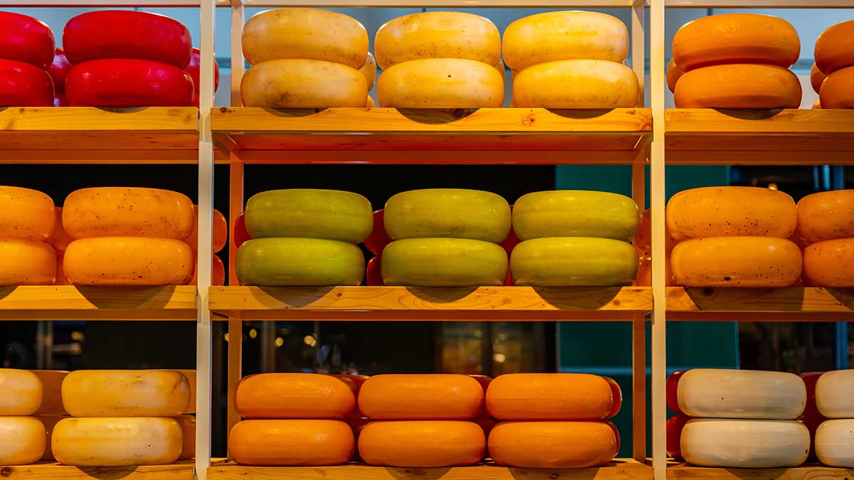 Netherlands home of Gouda Cheese