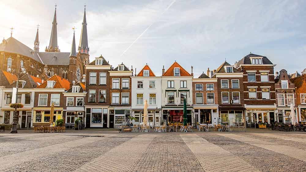 Delft Square in the Netherlands