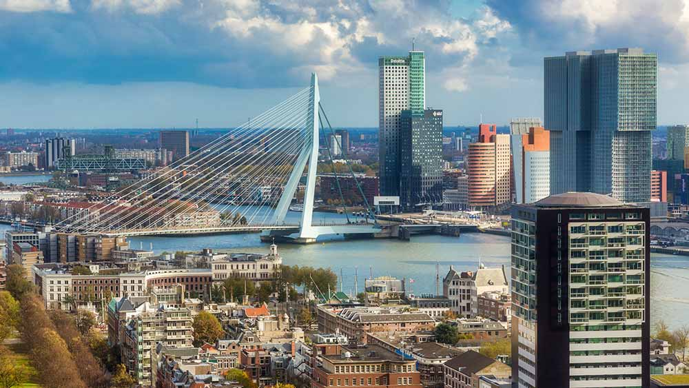 View of Rotterdam from Euromast Tower